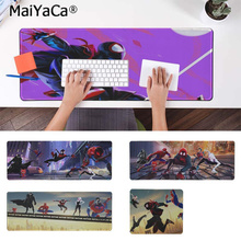 MaiYaCa Custom Skin Spider Man Into The Verse Laptop Computer Mousepad Free Shipping Large Mouse Pad Keyboards Mat