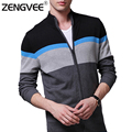 NEW Warm Thick Mens Cardigans Sweaters Men Winter&Spring Cardigan Tops Stand Collar Men Slim Casual dress Knitwear