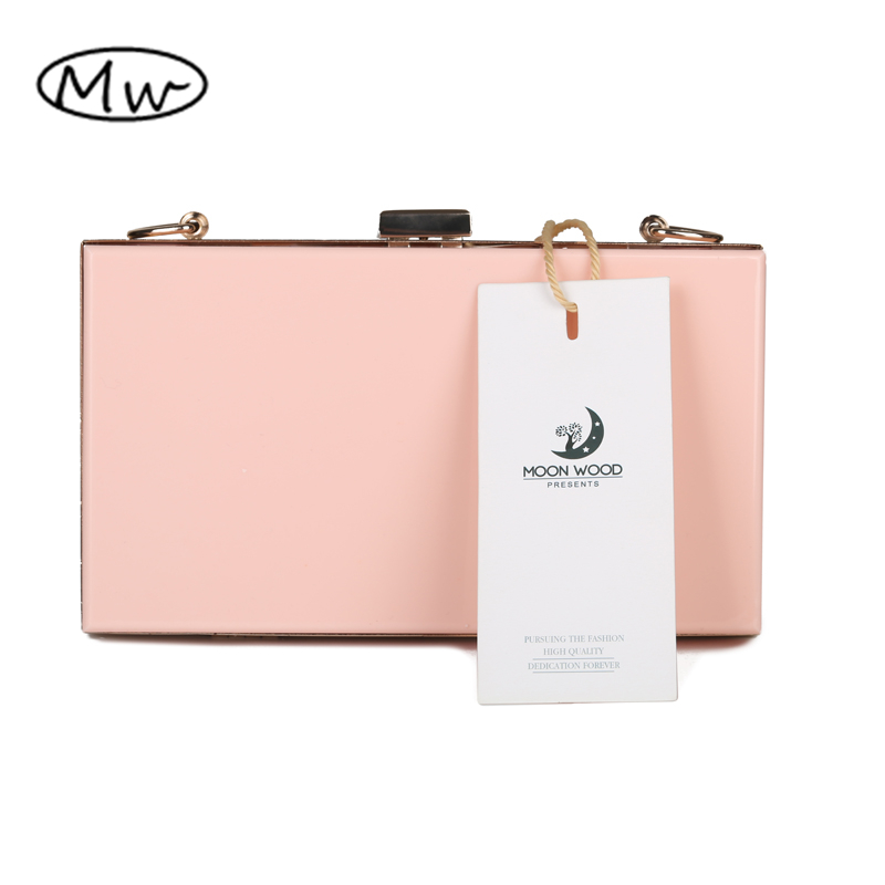 New 2016 Acrylic Transparent Clutch Bag Chain Box Bag Mini Women Messenger Bag Party Day Clutch Purse Wallet Four Colors 265
