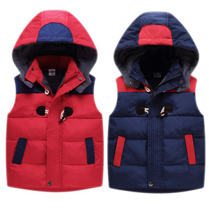 Image 4 - Child Waistcoat Children Outerwear Winter Coats Kids Clothes Warm Hooded Cotton Baby Boys Girls Vest For Age 2 12 Years Old