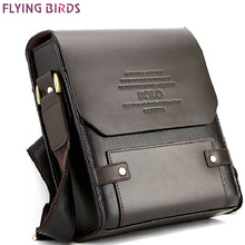 Flying Birds ! Men pu leather Casual men's travel bags leather handbags shoulder bag men messenger bags for male LM101