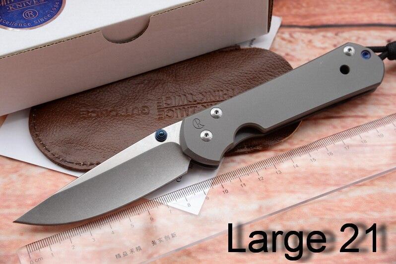 JUFULE Grand Sebenza 21 couteau pliant S35vn TC4 Titane poignée couperet Utilitaire fruits à éplucher cuisine camp de chasse couteau EDC outil