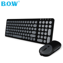 B.O.W  2.4 Ghz( (whisper-quiet)) Keyboard and Mouse Combo, 99 keys Slim Wireless Keyboard and Optical Mouse for Desktop, laptop logitech media combo mk200 full size keyboard and high definition optical mouse