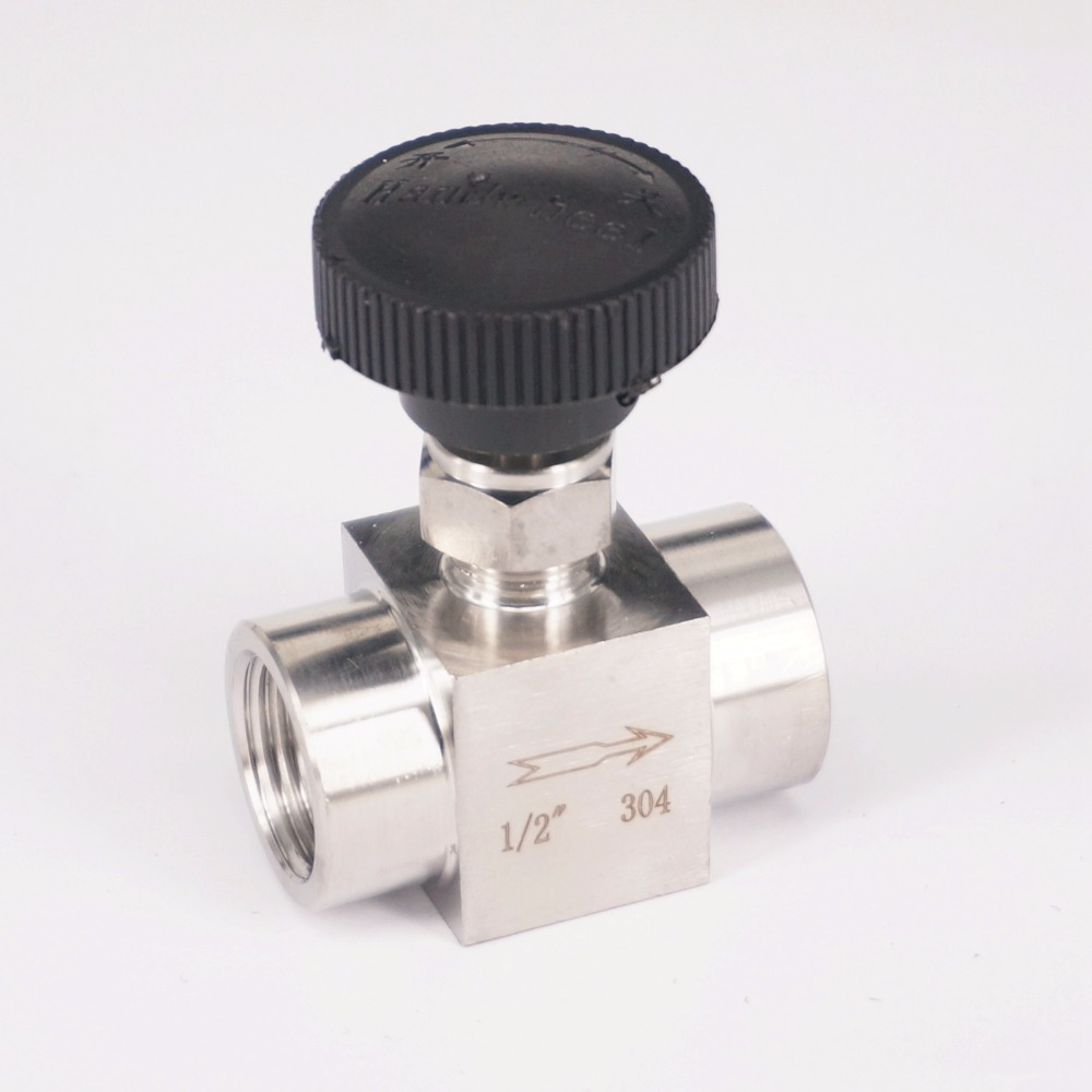 1/2 BSP female 304 Stainless Steel Flow Control Shut off Needle Valve 915 PSI Water Gas Oil