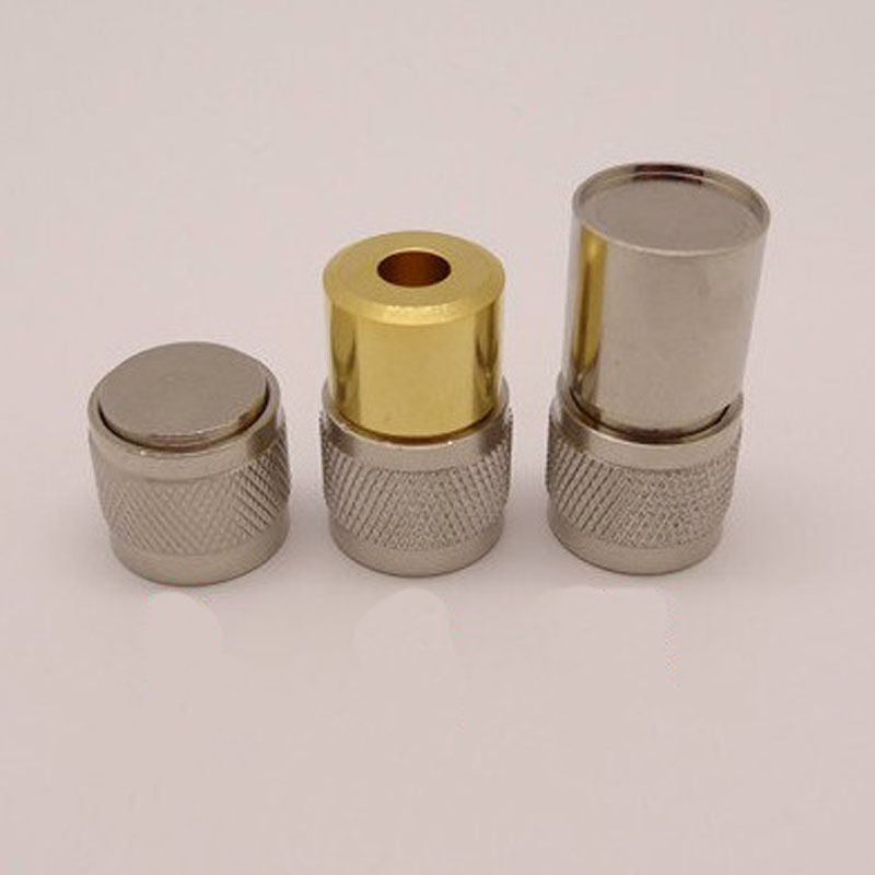 10sets NJ Dedicated Test Instrument Calibration Piece Copper Plug Of An Open Set Of N Load Short Circuit Connector Plug