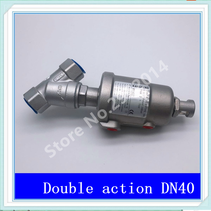 все цены на DN40 304 stainless steel pneumatic Angle seat valve with high temperature steam Y type Angle seat valve 2 DN-40 Stainless steel онлайн