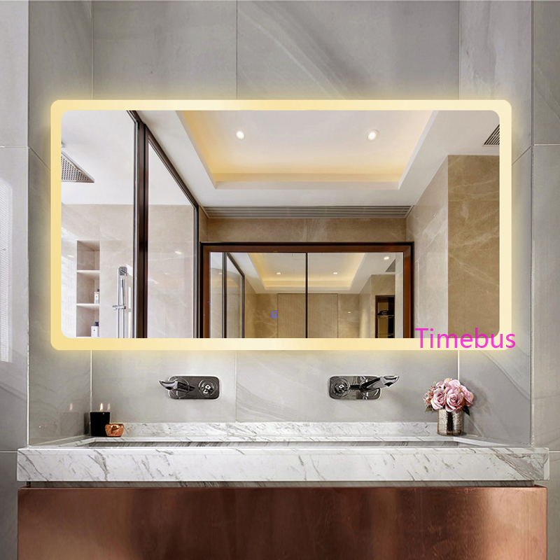 Bathroom Intelligent led Mirror Wall Lamp Fog-proof Toilet Bathroom led Mirror Beauty Cosmetology Salon Wall Mirror With Lights 4