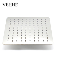 VEHHE 10 Inch Square Bath Ceiling Shower Stainless Steel Big Rain Shower Bathroom Fixture Shower Top Wall Mounted Shower Head