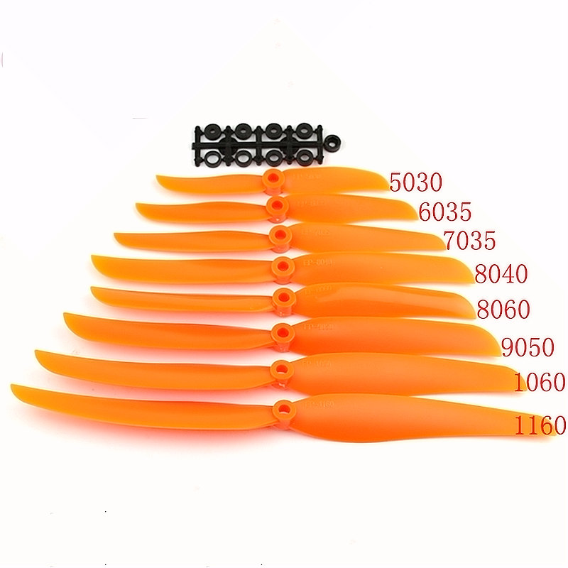 RC EP propeller 2-blade prop 5030 6035 <font><b>7035</b></font> 8040 8060 9050 1060 1160 direct drive with adapter washer spacer for airplanes image