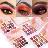 1pc Eyeshadow Palette Cosmetic Diamond Metal 16 Color Nude Professional Shiny Eyeshadow Makeup Tray