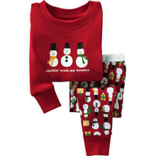 5bc34cb447 Children s Christmas Set 2018 Autumn Winter Boy Pajamas Snowman Print Red  Casual Outfit Girls Clothes 2pcs Kids Clothing 1-6 yrs
