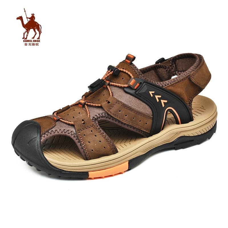 CAMEL JINGE Hiking sandals Men Summer Outdoor Beach Leather Sports Water Sandals Calzado Playa Hombre Buty do Wody Meskie