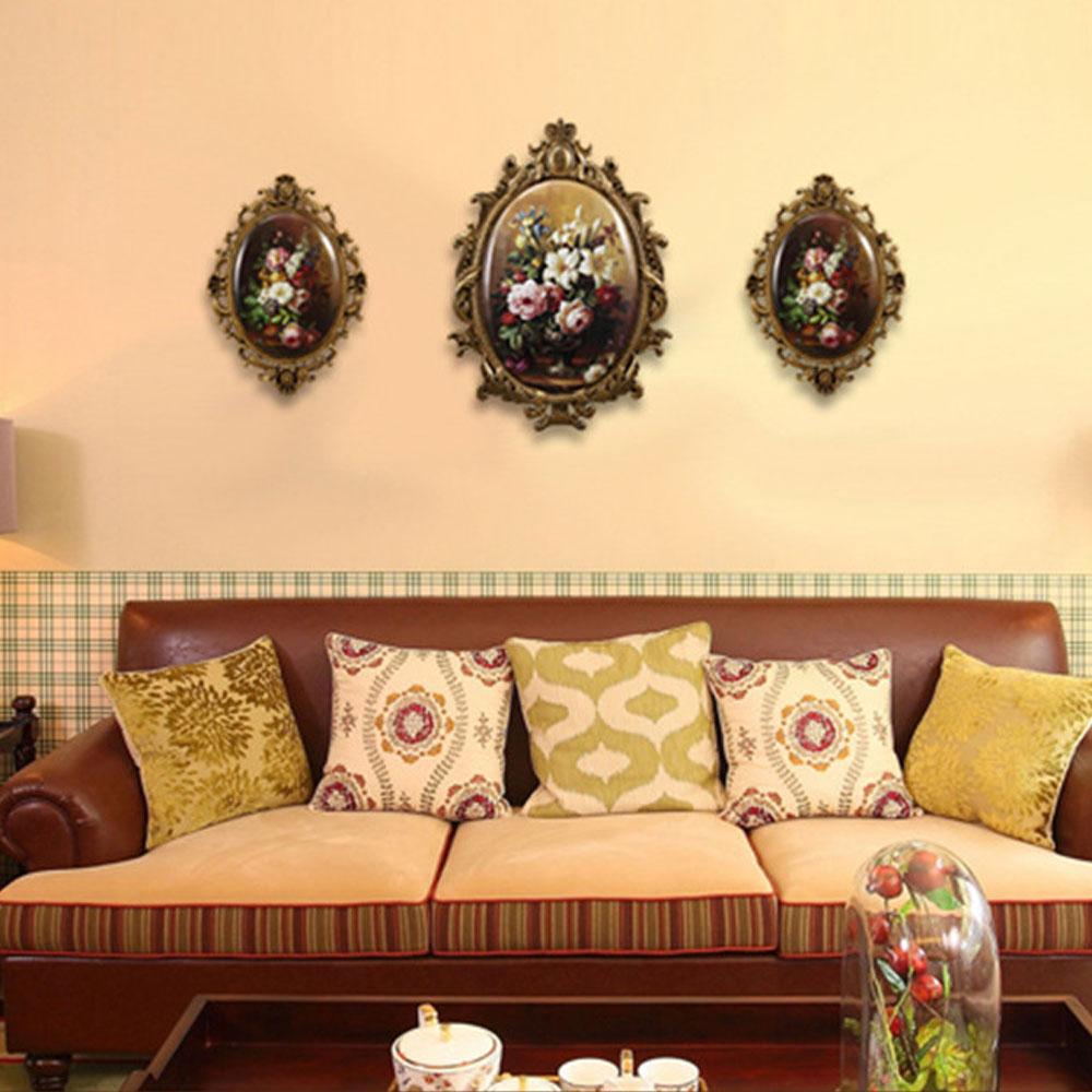 European Style Luxury Wall Hanging Decoration Vintage Flowers ...