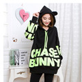 Autumn winter maternity clothes Fashion letters printed Fashion hooded fleece Pregnancy in the autumn and winter coat add velvet