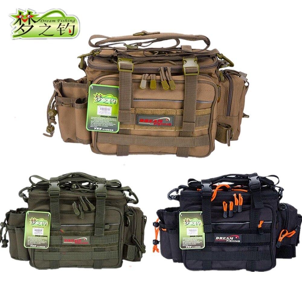Dream Fishing 14 40 22cm Multifunctional Fishing Tackle Bag Waterproof 1200D Nylon Lure Bag Large Capacity