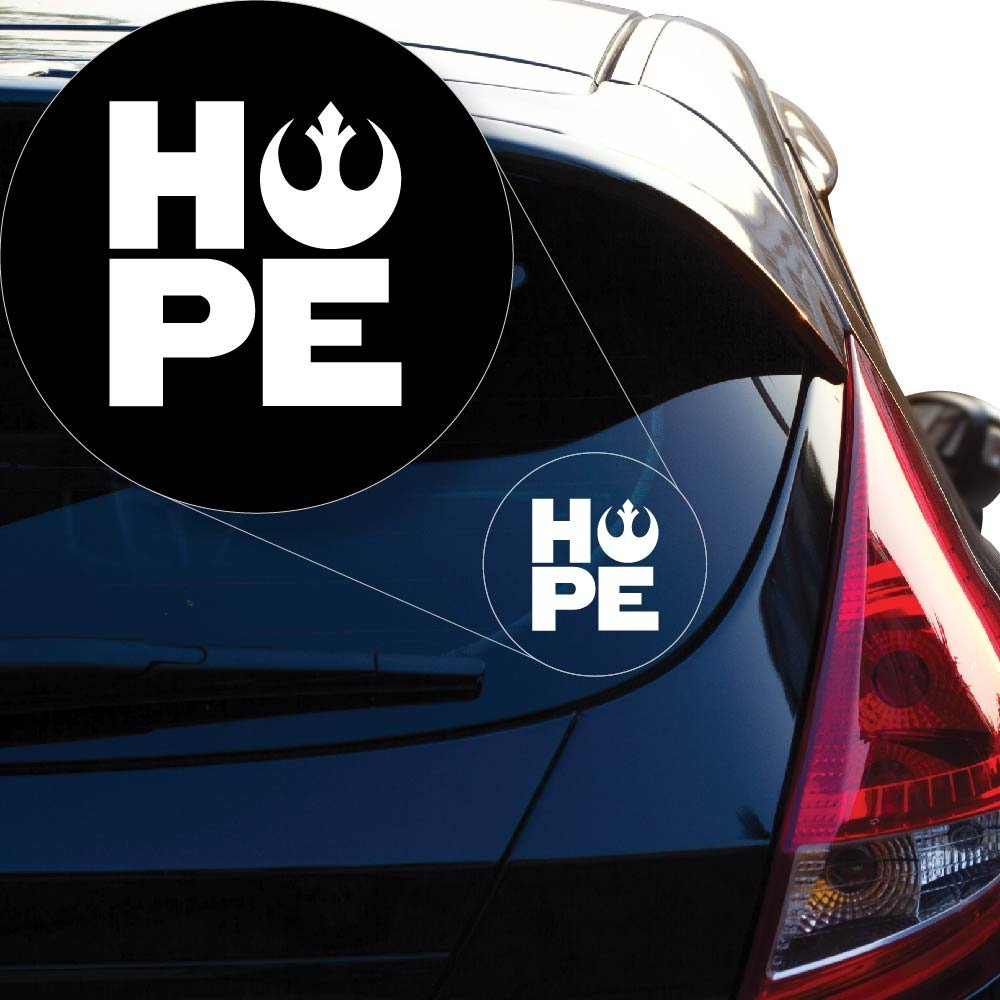 Star Wars Rebel Hope Vinyl Decal Sticker 862 4 quot X 3 8 quot White in Car Stickers from Automobiles amp Motorcycles
