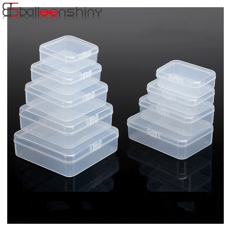 Balleenshiny Small Box Gadgets-Box Chip-Box-Storage Packaging Candy Plastic Transparent