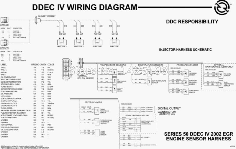 ddec iv wiring harness ddec image wiring diagram detroit sel series 60 wiring diagrams detroit discover your on ddec iv wiring harness