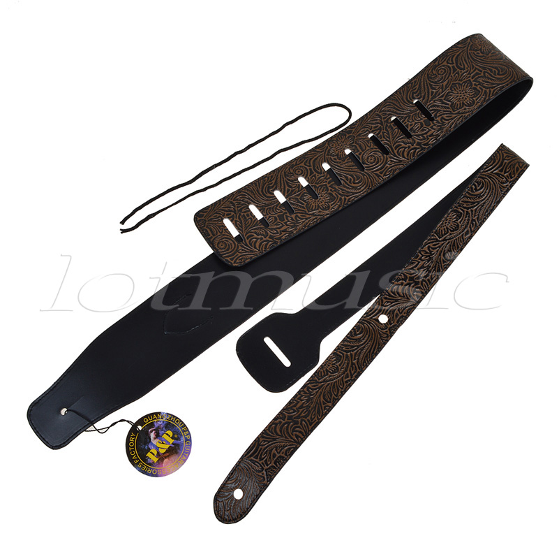 2Pcs Snake Skin Type Straps For Electric Acoustic Guitar Bass per se two tone snake skin pants