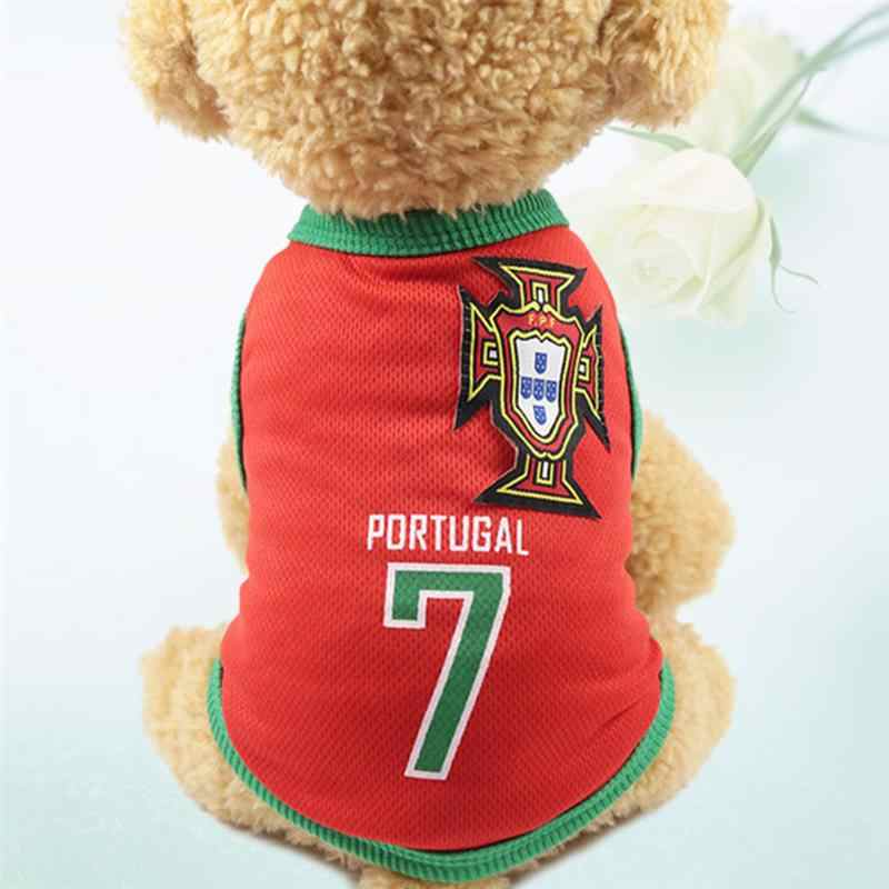 2018 Football Team Clothes for Cat Dog T-shirt National Style Dogs  Basketball Uniforms Jersey ca4f12b50