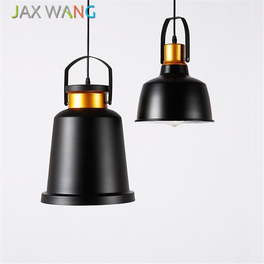 Retro Industrial Wind Pendant Lights Black Creative For Restaurant Cafe Bar Home Decoration Lighting Fixtures Luminaria Avize