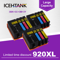 ICEHTANK 920XL Compatible Ink Cartridge Replacement For HP 920 XL For Officejet 6000 6500 6500 6500A 7000 7500 7500A Printers