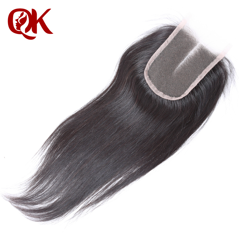 QueenKing Hair Brazilian Lace Closure SilkyStraight Remy Hair 3.5