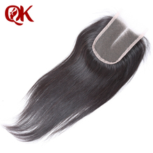 QueenKing Hair Brazilian Lace Closure SilkyStraight Remy Hair 3 5 x 4 French Lace 10 18