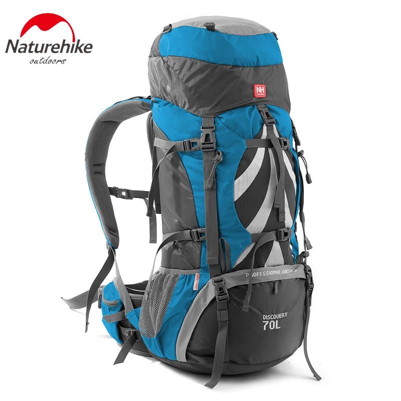 все цены на NatureHike Women Men Internal Frame Backpacking Hiking Camping Backpack with Rain Cover 70L онлайн