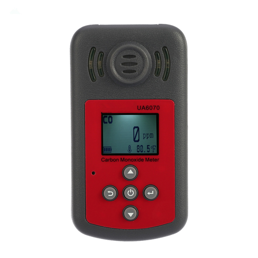 New High Accuracy Precision Carbon Monoxide Handheld Gas Detector Portable LCD Display Sound Light Alarm 0-2000ppm CO Monitor