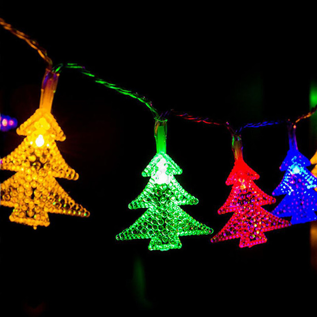Christmas Lights String Waterproof Battery Box Led Lantern Tree Holiday Wedding Small Light