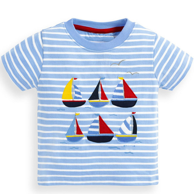 c0108422a6b1 Kidsalon Children T shirts for Boys Clothes Baby Boy Tops Summer 2019 New  Kids T-shirt Animal Applique Short Sleeve Boys Shirts