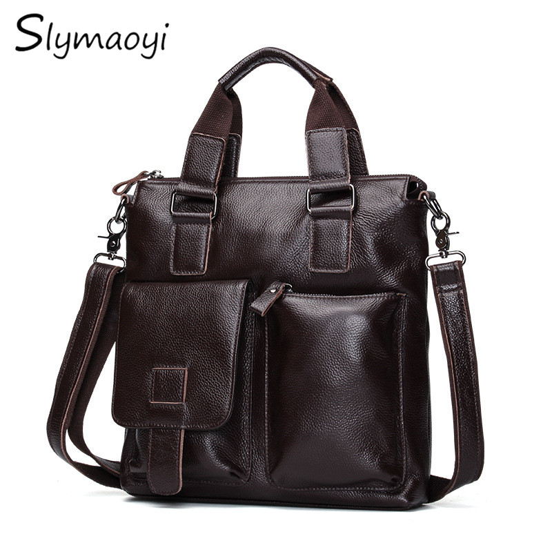 Slymaoyi 2017 New Genuine Leather Men Bags Hot Sale Male Messenger Bag Man Fashion Crossbody Shoulder Bag Men's Travel Bags бра 2641 2w salona odeon 928705