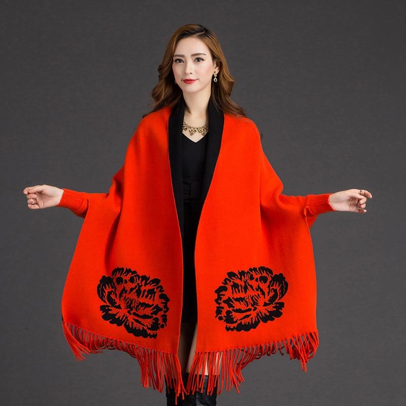 Autumn Winter New Fashion Shawls Scarf Women Jacquard Reversible Cachecol Feminino Artificial Cashmere Tassels Wrap Pashmina