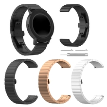 OOTDTY Universal Stainless Steel Wristband Metal Watch Strap For Ticwatch 2/ E Smart Bracelet Replacement Accessory