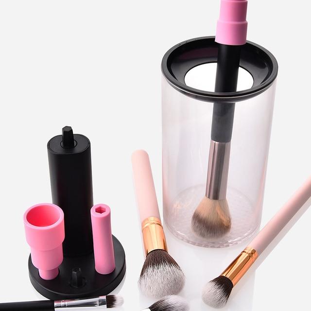 Limpiador de brochas de maquillaje eléctrico perezoso portátil conveniente de silicona rápida brochas de maquillaje limpiador de lavado máquina de Herramientas de limpieza