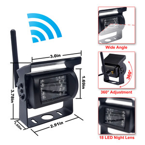 Image 2 - Accfly Dual Wireless Monitor car video recorder reverse backup rear view camera for trucks bus Caravan Van Camper RV Trailer