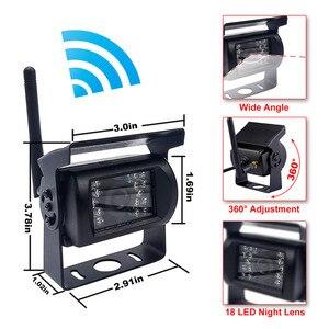 Image 2 - Accfly çift kablosuz monitör araba video kaydedici ters yedekleme arka görüş kamerası kamyon otobüs karavan Van Camper RV römork