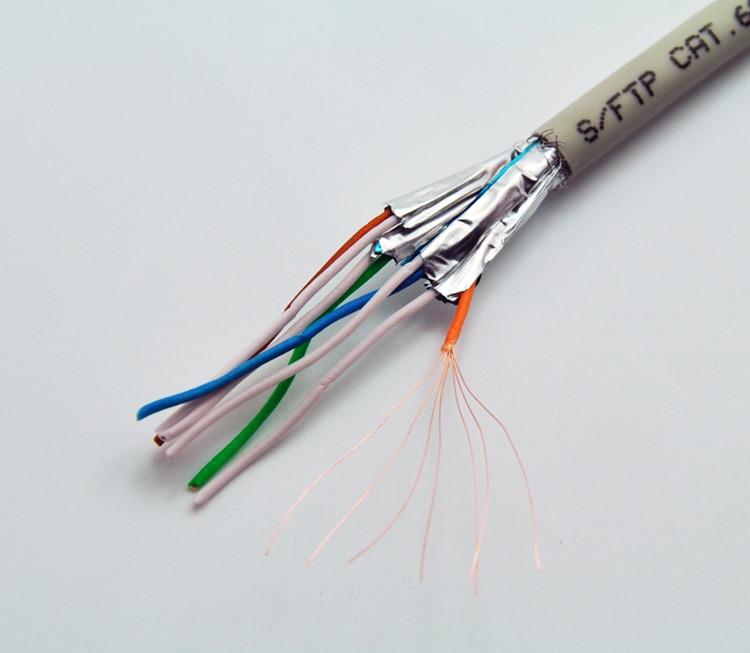 50m Gigabit Cat6 S Ftp Bulk Stranded Cable Awg26 Copper