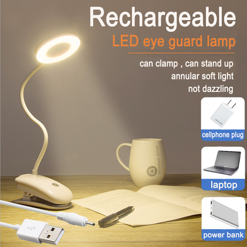 5V USB Led Table Lamps 18650 LED Touch On/off Switch 3 Modes Clip Desk Lamp Eye Protection Reading Dimmer Rechargeable цена