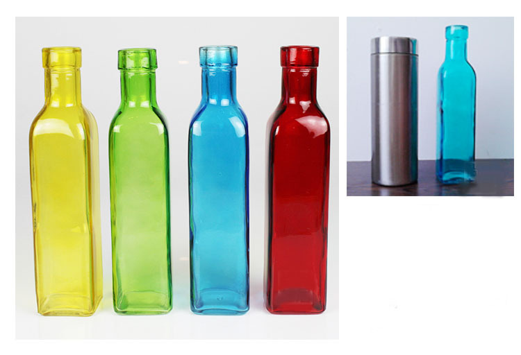 Decorative Colored Glass Bottles Unique European 4 Color Glass Bottle Flower Vase Fashion Small Glass Review