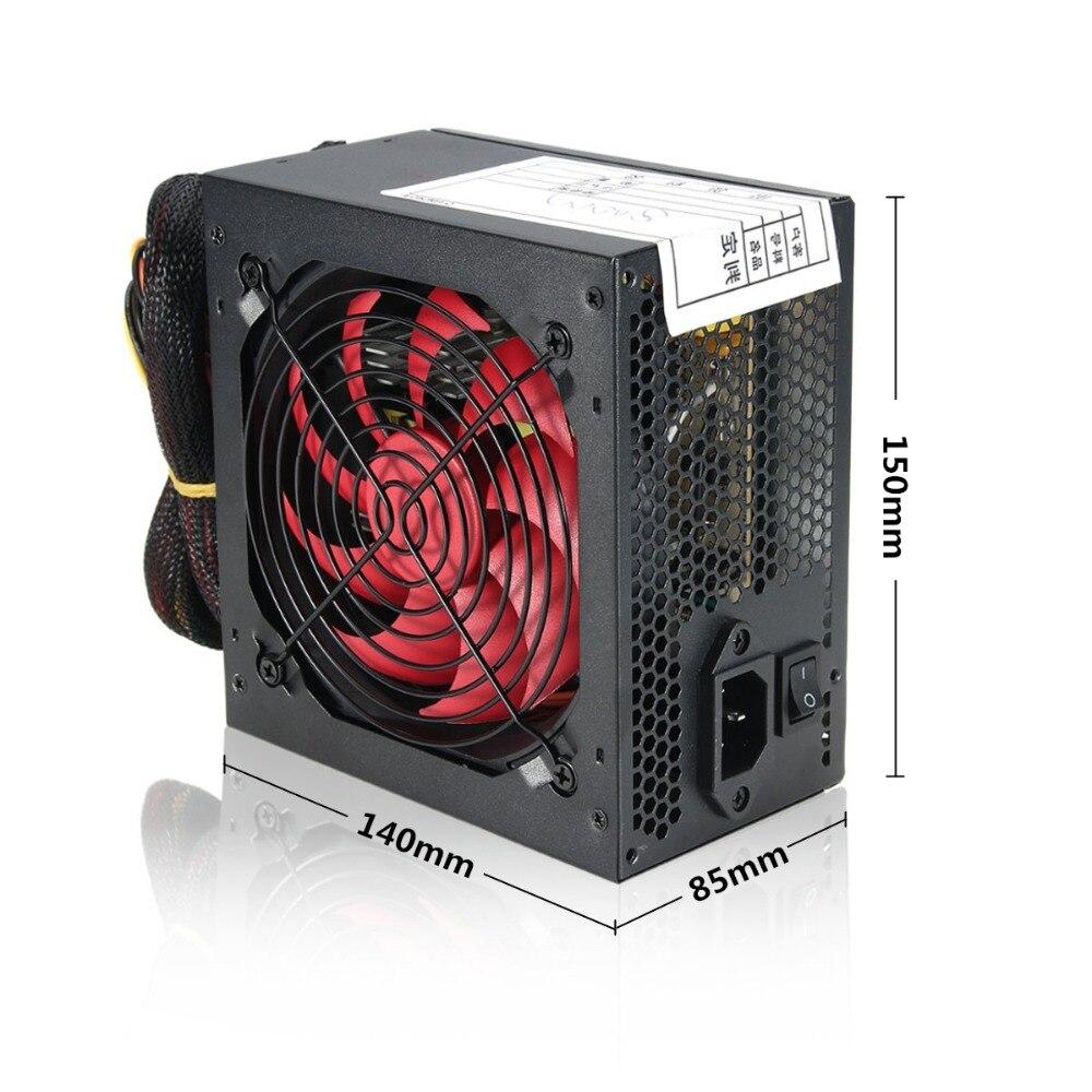 Silencieux 800 Watt 800 W pour Intel AMD PC 12V ATX PC alimentation SLI PCI-E 12CM ventilateur haute qualité ordinateur alimentation pour BTC - 6