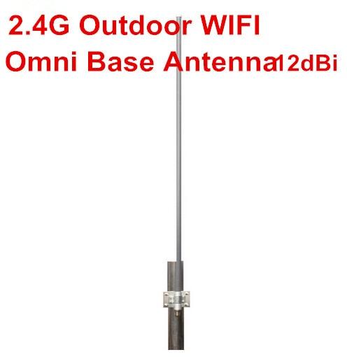 Wifi haute gain 12dBi répéteur antenne 2.4g routeur sans fil fibre de verre base antenne N femelle 2.4G 12dBi omni antenne en fibre de verre