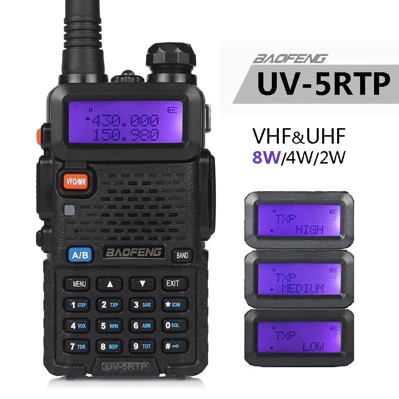 Baofeng UV-5R TP 8W 4W  High Power VHF/UHF 136-174/400-520MHz Dual Band FM True Two-way Ham Radio Walkie Talkie/Earpiece UV-5RTP