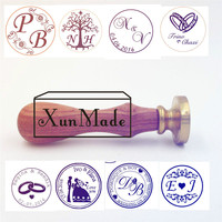 Custom Seal Wax Sealing Stamp For Wedding Invitation Retro Antique Stamp Weeding Stamp With Name And