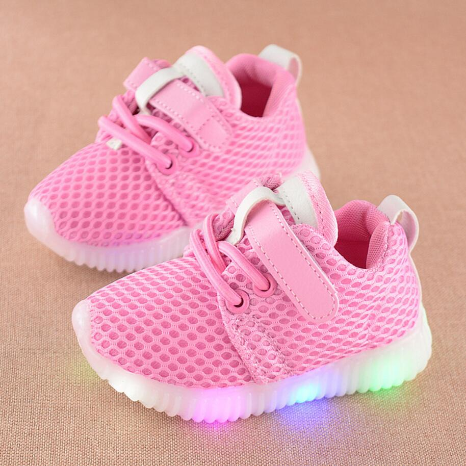 KKABBYII New Fashion Children Shoes With Luminous Sneakers Shoes Glowing Sneakers Baby Toddler Boys Girls Shoes LED Soft