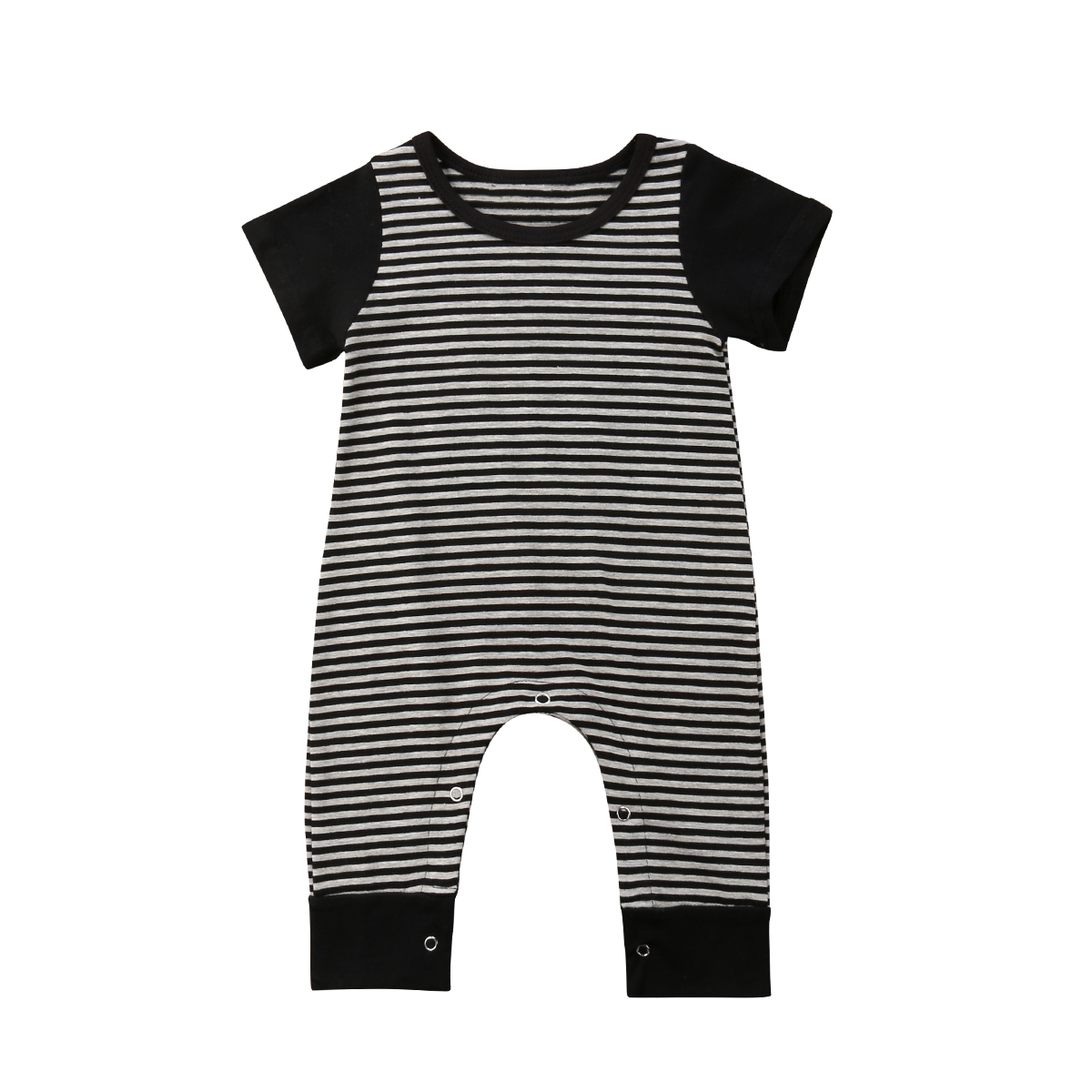 Newborn Infant Baby Boy Girl Striped Romper Jumpsuit Clothes Outfits 0-24M