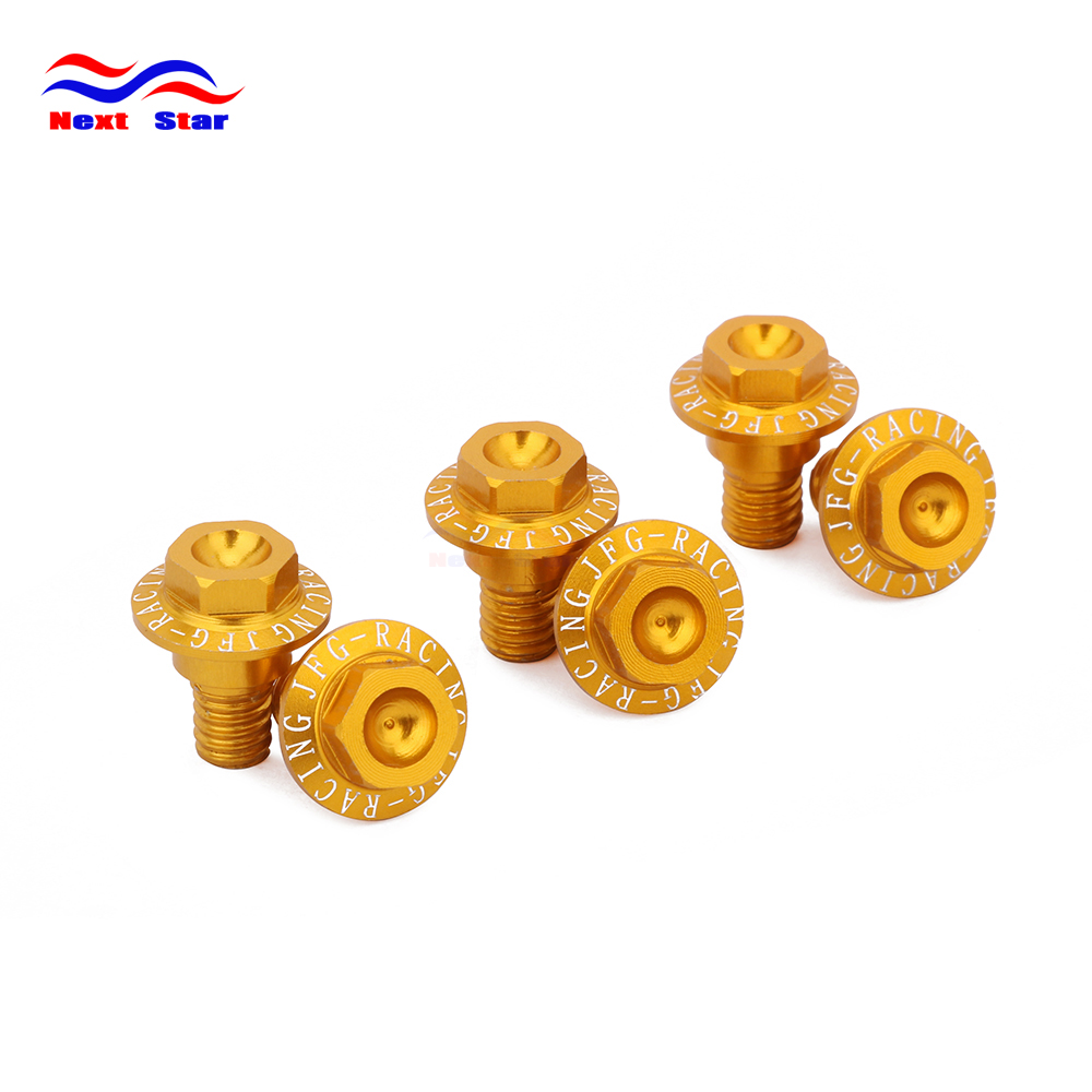Motorcycle Gold Shock Absorber Guard Screws For SUZUKI ...