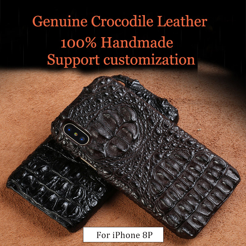 LANGSIDI Genuine crocodile leather 3 kinds of styles  Half pack phone case For iphone 8Plus All handmade can customize the modelLANGSIDI Genuine crocodile leather 3 kinds of styles  Half pack phone case For iphone 8Plus All handmade can customize the model
