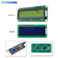 Lcd1602 pcf8574t pcf8574 iic/i2c/인터페이스 16x2 문자 lcd 디스플레이 모듈 1602 arduino diy 용 5 v 청색/황색 녹색 화면